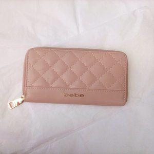 Bebe Pink Leather Wallet